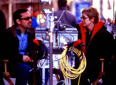 Director James Mangold and producer Cathy Konrad on the set of Miramax's Kate & Leopold