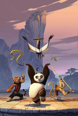 Tigress (voiced by Angelina Jolie ), Master Viper (voiced by Lucy Liu ), Master Crane (voiced by David Cross ), Po (voiced by Jack Black ), Master Mantis (voiced by Seth Rogen ) and Master Monkey (voiced by Jackie Chan ) and in DreamWorks Animation's Kung Fu Panda