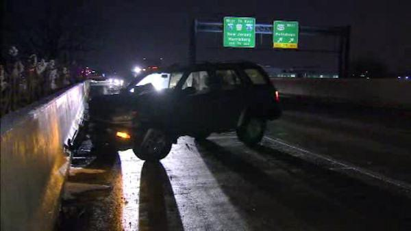 Icy conditions cause crashes, road closures