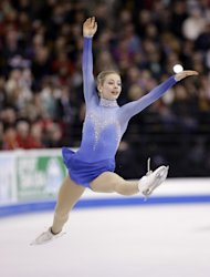 Gracie Gold competes in the women's free skate at the U.S. Figure Skating Championships Saturday, Jan. 11, 2014 in Boston. (AP Photo/Steven Senne)