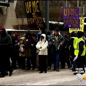 Workers, Activists Target UPMC Offices