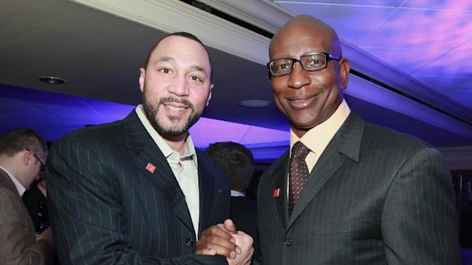 IMAGE DISTRIBUTED FOR NFLPA - Charlie Batch, left, of the Pittsburgh Steelers and Eric Dickerson are seen at the VIP Reception hosted by the NFLPA, on Thursday, Jan. 31, 2013 in New Orleans. (Photo by Dario Cantatore/Invision for NFLPA/AP Images)