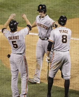 Posey homers and Giants beat Rockies 16-4