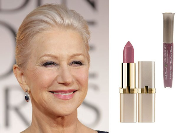 Lip color for gray hair