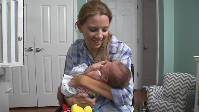 'Paralyzed Bride' Celebrates Mother's Day with New Baby