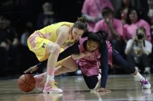 No. 7 Penn State women beat Michigan 68-57
