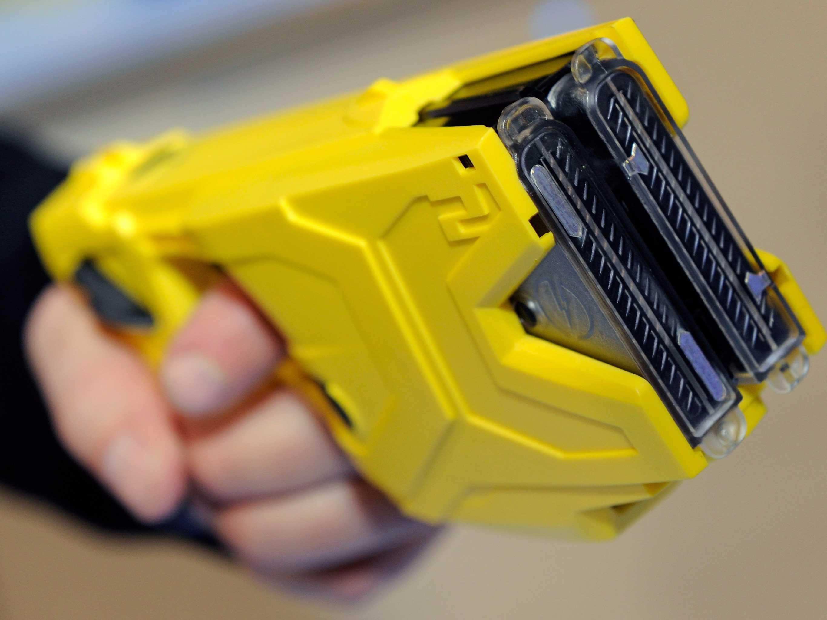 Taser International shares are falling after a new documentary questions how safe tasers really are