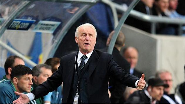 Football - Trapattoni pleased with Irish display