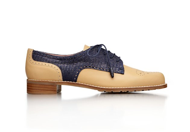 This product image released by Stuart Weitzman shows an oxford shoe co-designed by actress Chloe Grace Moretz for a special Stuart Weitzman collection to help raise money for ovarian cancer research. (AP Photo/Stuart Weitzman)