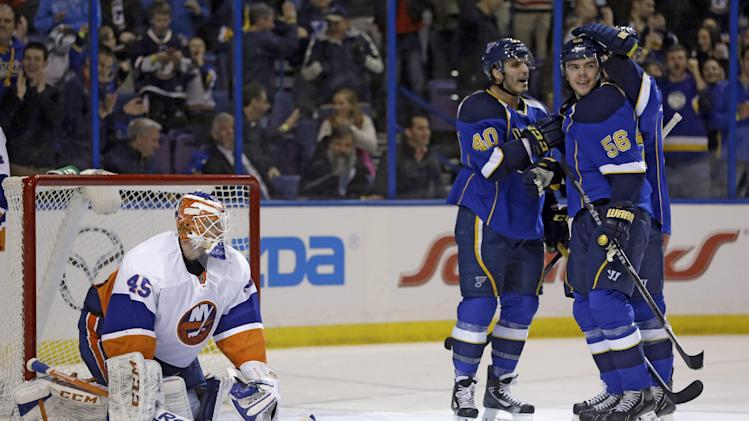 Blues hand Islanders 8th straight loss, 5-1