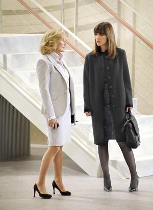 "In this TV publicity image released by DirecTV, Glenn Close, left, and Rose Byrne are shown in a scene from ""Damages,"" premiering Wednesday, July 13, 2011 at 10 p.m. on DirecTV's Audience Network. (AP Photo/DirecTV, David M. Russell)"