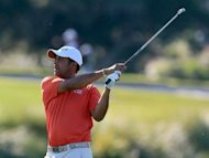 Arjun Atwal, trying to move up the money list enough to secure his US PGA Tour card for next season, seized the lead at the McGladrey Classic