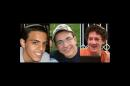 FILE - This undated file image released by the Israel Defense Forces shows a combination of three photos of Israeli teens Eyal Yifrah, 19, Gilad Shaar, 16, and Naftali Fraenkel, a 16-year-old with dual Israeli-American citizenship, who disappeared while hitchhiking home near the West Bank city of Hebron late at night on June 12, 2014, and were never heard from again. Their bodies were found two weeks later. Saleh Arouri, a senior Hamas leader, said on Wednesday, Aug. 20, that the group carried out the kidnapping and killing of the three Israeli teens in the West Bank in June - the first time anyone from the Islamic militant group has said it was behind the attack that helped spark the current war in the Gaza Strip. (AP Photo/Israel Defense Forces, File)