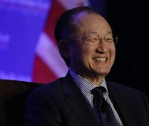 World Bank President Jim Yong Kim is interviewed during a morning breakfast session of the Economic Club of Washington