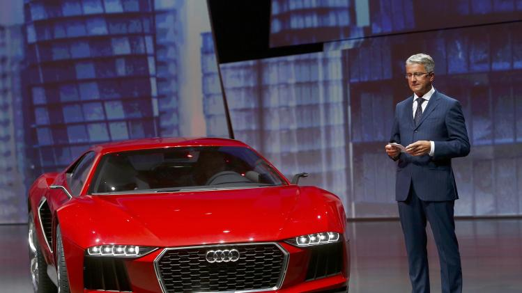 "Audi CEO, Rupert Stadler presents the new ""Audi Nanuk"" at the Volkswagen group night at the Frankfurt motor show"