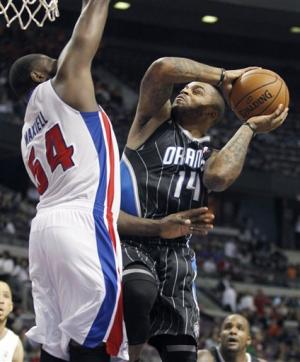 Redick leads Orlando past Detroit 110-106