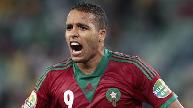 Morocco's Youssef El-Arabi struck a hat-trick in the win (Reuters)