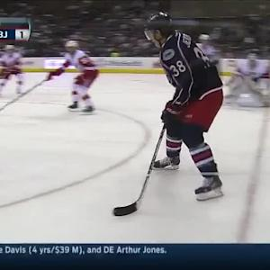 Blue Jackets score twice in 40 seconds