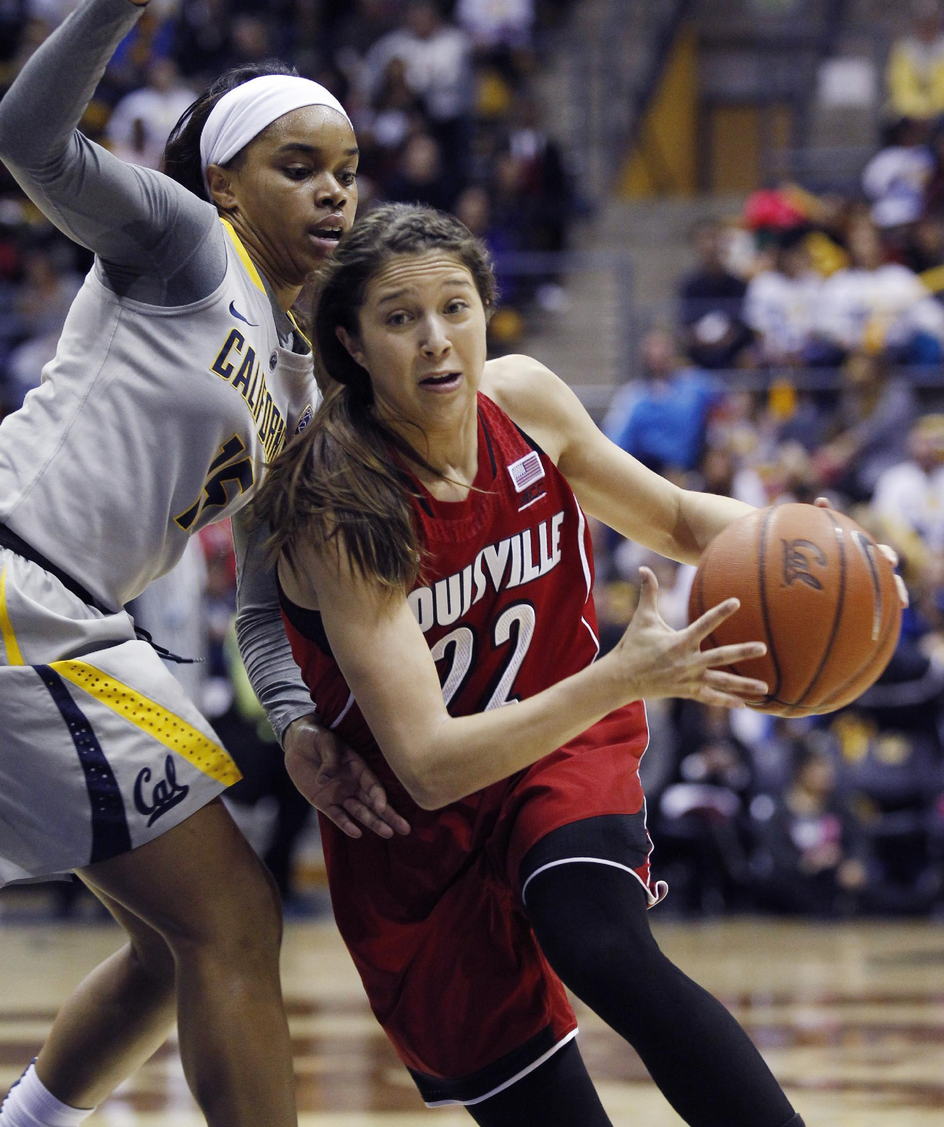 Hammond leads No. 10 Louisville women past No. 24 California