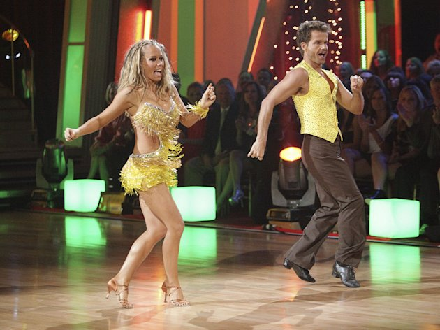 Kendra Wilkinson and Louis Van Amstel perform on &quot;Dancing with the Stars.&quot; 