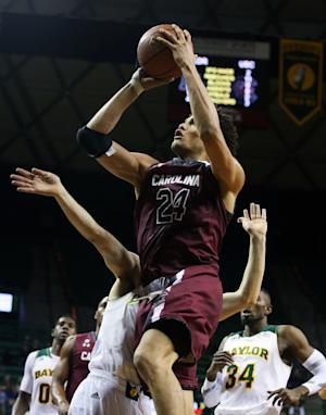 No. 23 Baylor wins 66-64 over South Carolina