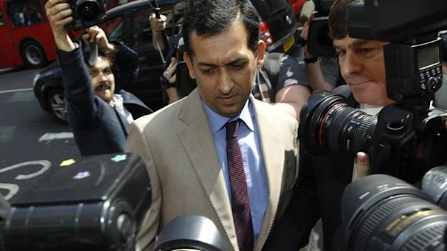 Trainer Mahmood Al Zarooni arrives for a Disciplinary Panel Hearing at the British Horse Racing Authority in London April 25, 2013 (Reuters)