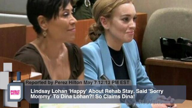 Lindsay Lohan 'Happy' About Rehab Stay, Said 'Sorry Mommy' To Dina Lohan?! So Claims Dina!
