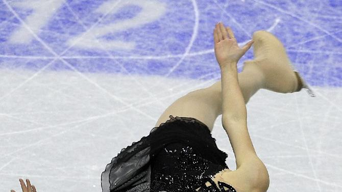 Ashley Wagner competes in the ladies free skate event at the U.S. Figure Skating Championships in San Jose, Calif., Saturday, Jan. 28, 2012. (AP Photo/Jeff Chiu)