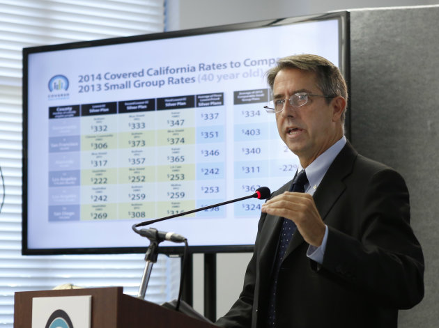 <p> Peter Lee, executive director of Covered California, the state agency running the state's new health exchange, announced the plans and prices that will be offered by private insurers during a news conference in Sacramento, Calif., Thursday, May 23, 2013. Some of the state's largest health insurers will be among those companies offering competing polices to millions of Californians who are expect to purchase coverage under President Barack Obama's Affordable Care Act. (AP Photo/Rich Pedroncelli)