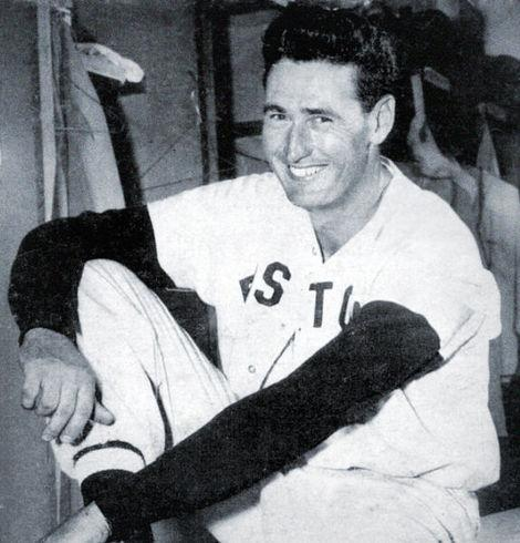 Boston Red Sox Hall of Famer Ted Williams.