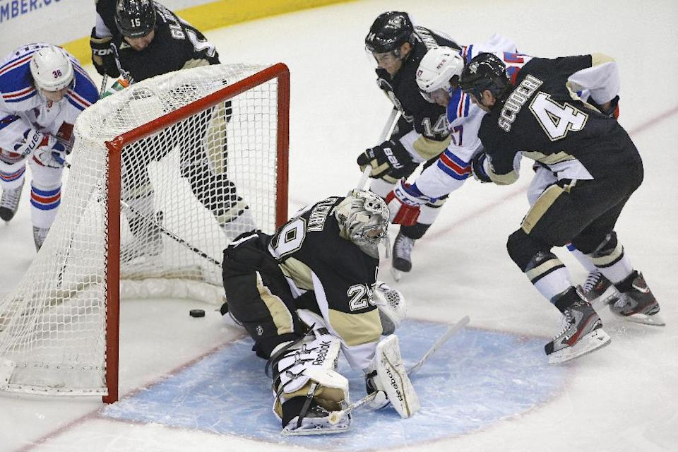 Rangers beat Penguins 4-3 in shootout