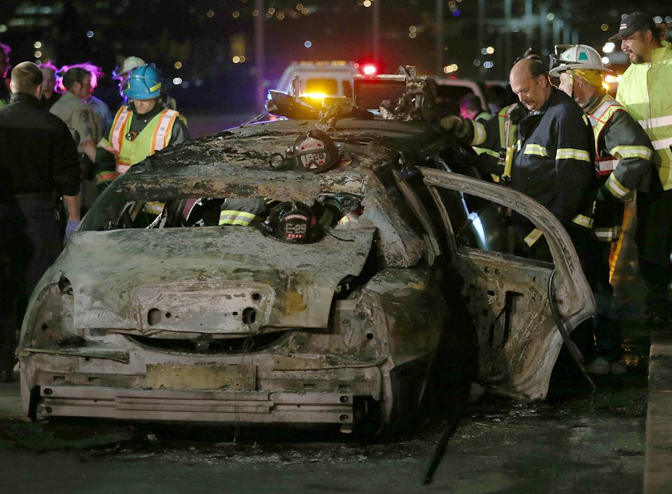 Limo that went up in flames had extra passenger