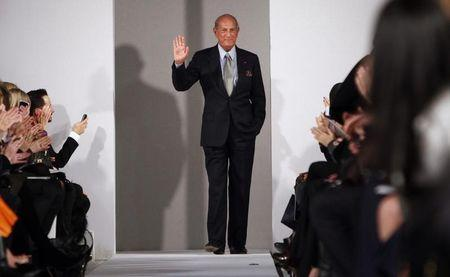 Oscar de la Renta is seen during his Fall/Winter 2012 collection show during New York Fashion Week