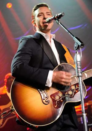 Justin Timberlake performs onstage at The Hollywood Palladium on February 10, 2013 in Los Angeles -- Getty Premium