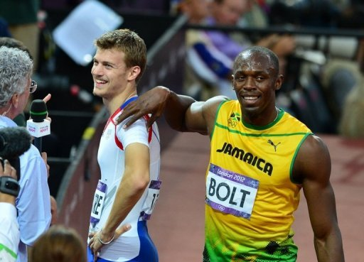 Usain Bolt (R) confidently predicted his own 200m world record could fall on Thursday
