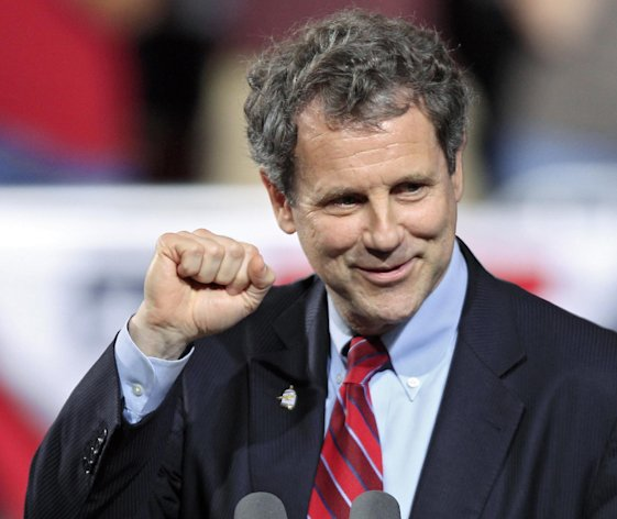FILE - In this May 5, 2012 file photo, Sen. Sherrod Brown, D-Ohio speaks before a campaign rally for President Barack Obama at Ohio State University in Columbus, Ohio. Big money from outside interests is flowing into the campaign for Ohio&#39;s U.S. Senate seat. Nowhere is as much money being spent on a Senate race this year as in Ohio, where liberal Democrat Brown is seeking a second term, his fate to some degree dependent on how well President Barack Obama does in the states tossup presidential contest. (AP Photo/Mark Duncan, File)