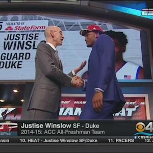 Miami Heat Drafts Justise Winslow No. 10 Overall