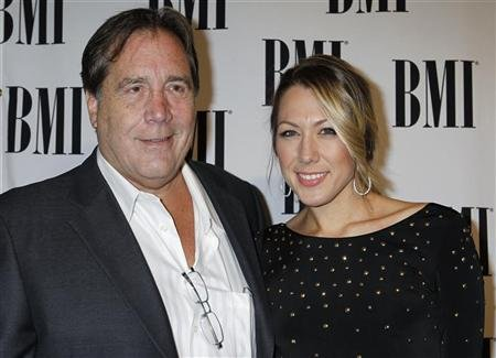 Singer and songwriter Colbie Caillat arrives with her father Ken Caillat at the 59th Annual BMI Pop Awards in Beverly Hills
