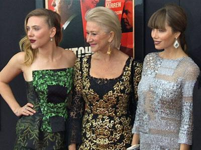 """""""Hitchcock"""" stars hit the red carpet in NYC"""