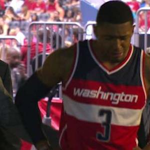 Bradley Beal Exits With A Sprained Ankle