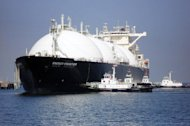 A liquefied natural gas (LNG) tanker arrives at a gas storage station at Sodegaura city in Chiba prefecture, east of Tokyo in 2009. Japan and India launched a joint research project into pricing structures in LNG markets, the Japanese government said, amid complaints that energy-hungry Asia is paying above the odds
