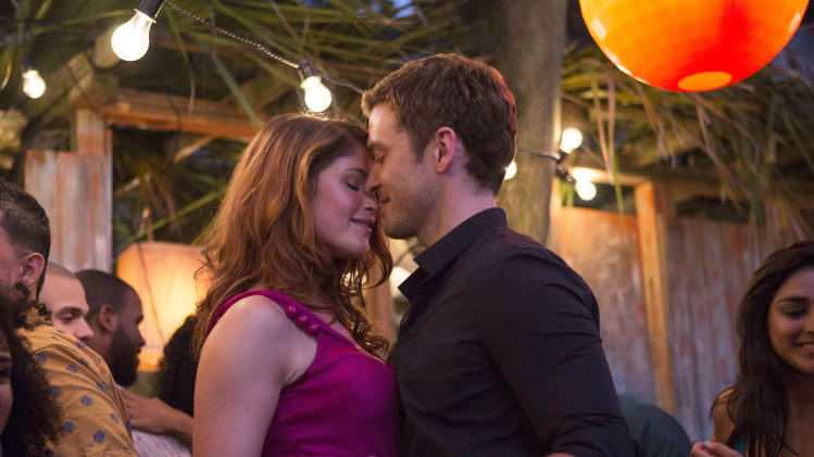 """This image released by 20th Century Fox shows Gemma Arterton, left, and Justin Timberlake in a scene from """"Runner Runner."""" (AP Photo/20th Century Fox, Scott Garfield)"""