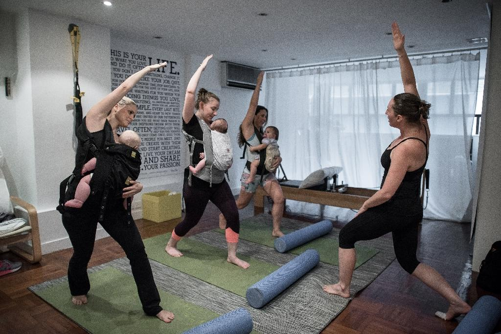Baby-wearing revival gets a fitness twist in Hong Kong