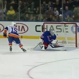 Penalty Shot: Clutterbuck vs Lundqvist