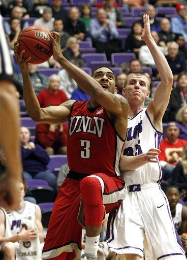 Hawkins helps No. 21 UNLV beat Portland 68-60