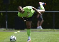 Portuguese midfielder Ricardo Quaresma attends a training session at the team's base camp in Opalenica, near Poznan, on June 23, 2012, during the Euro 2012 football championships. AFP PHOTO/ FRANCISCO LEONG
