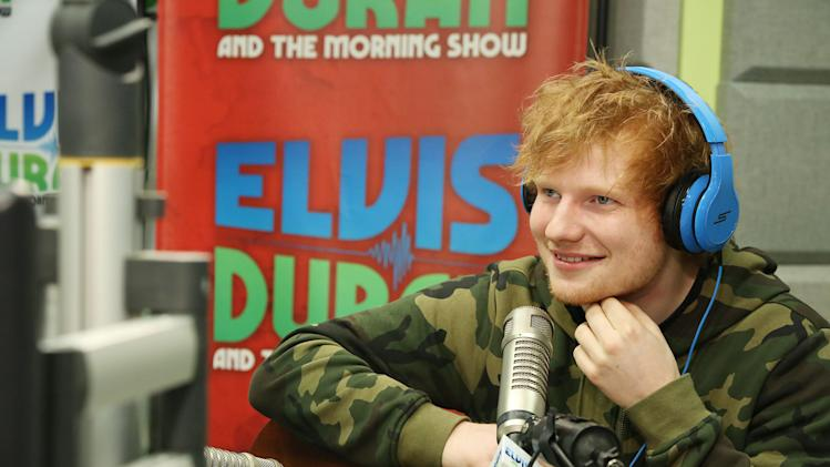 Ed Sheeran Visits Elvis Duran Z100 Morning Show