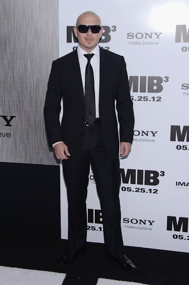 Pitbull at the MIB 3 NY premiere