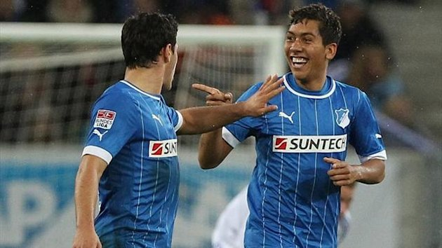 Bundesliga 2012/13 Hoffenheim - Schalke, Roberto Firmino