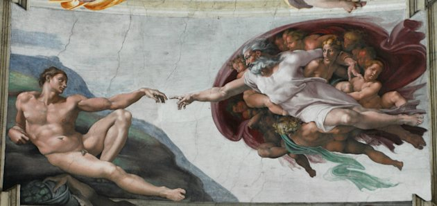 Michelangelo&#39;s inspired imagining of the Creation of Adam